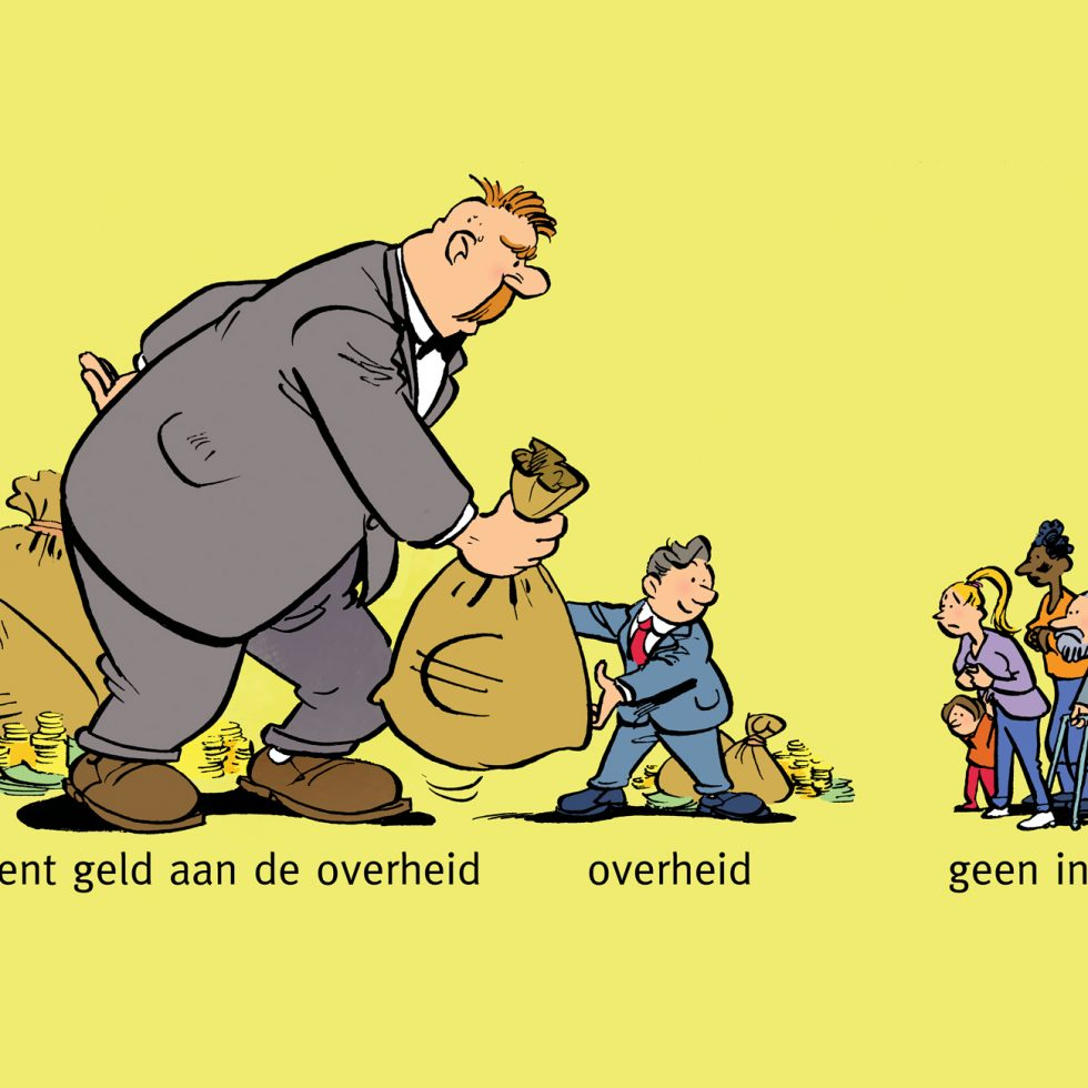 Uitsnede illustratie voor Economisch bekeken, uitvr. Malmberg.